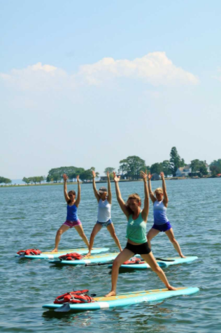 Darien YMCA paddle board Mind Body Spirit festival 08-09-17