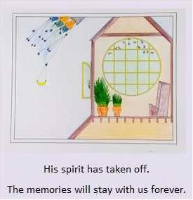 Artwork obituary illustration James Albert 08-29-17
