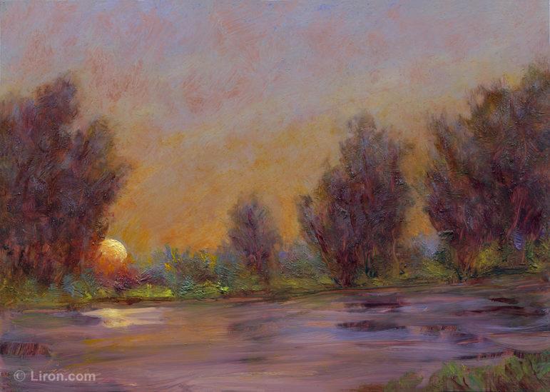 Welcoming Tomorrow oil painting Liron Sissman Atria Darien 08-30-17