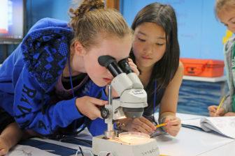 Maritime Aquarium home school students 09-02-17