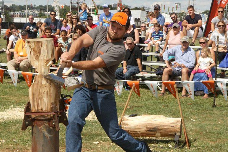 Lumberjack Paul Bunyan event Oyster Festival 09-08-17