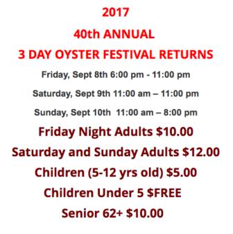 Prices Norwalk Oyster Festival 09-08-17