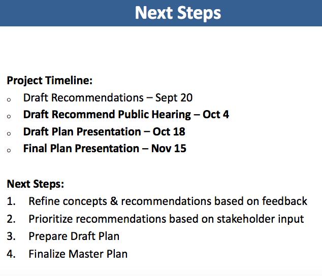 Next steps in master park plan 09-22-17