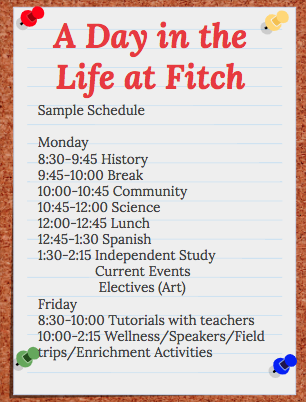 Fitch Academy day in the life slide