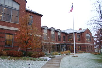Darien Library General winter snow 10-13-17
