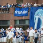Blue Wave Football spectators Brien McMahon game 11-02-17