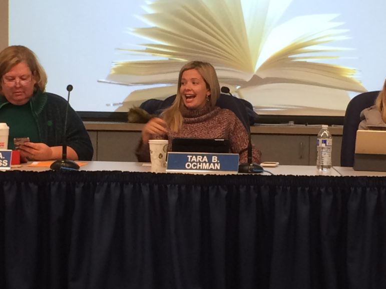 Tara Ochman Board of Education Chairperson chair chairman chairwoman 11-14-17