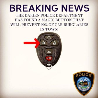 Magic Button Car Thefts Darien PD