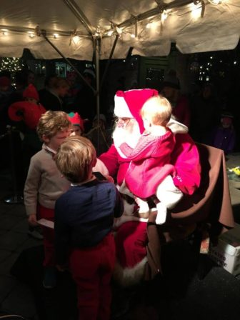 Santa at Grove Street Plaza Holiday Magic
