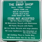 Swap Shop Rules Sign 11-11-17