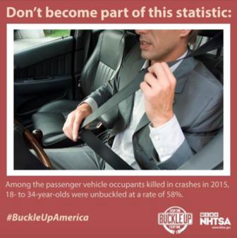 NHTSA seat belt click it or ticket 11-18-17