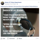 Car Theft Burglary Post PD Facebook 11-20-17