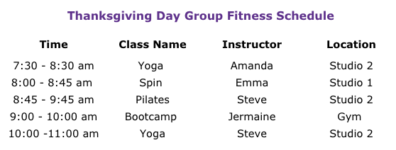 YMCA Thanksgiving 11-22-17