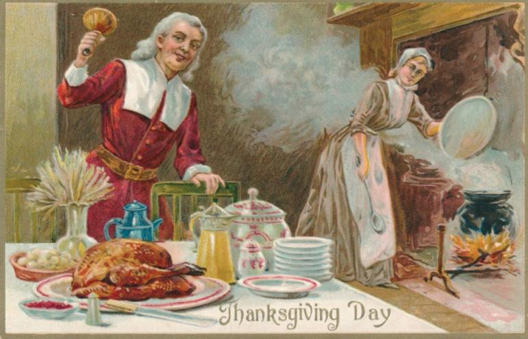 Thanksgiving Day postcard 11-22-17