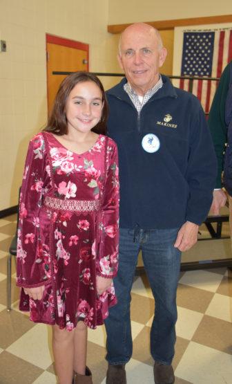 Savanna Moore Thomas Moore Veterans Day Holmes 2017