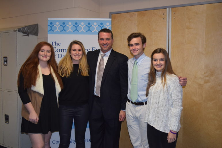 Chris Herren visit to DHS on Nov 30 with Youth Asset leaders