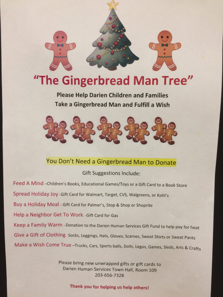 Gingerbread Man Tree Giving Christmas