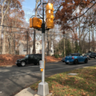 New walk light at Tokeneke School 12-10-17