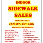 Chamber of Commerce Indoor Sidewalk Sales 18-01-12