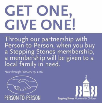 Stepping Stones Person-to-Person Get One Give One 2018