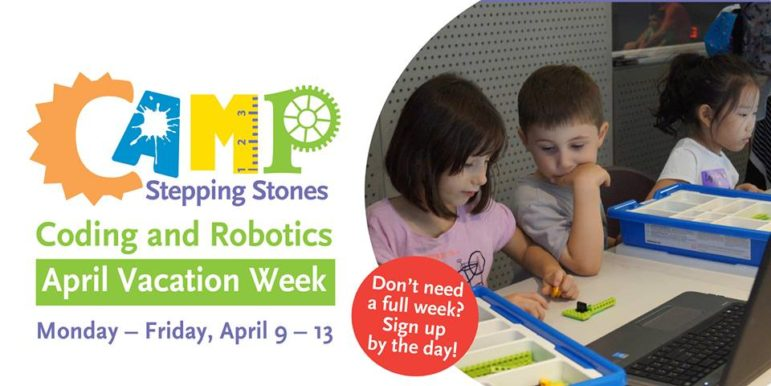 Coding and Robotics Camp April Vacation Stepping Stns