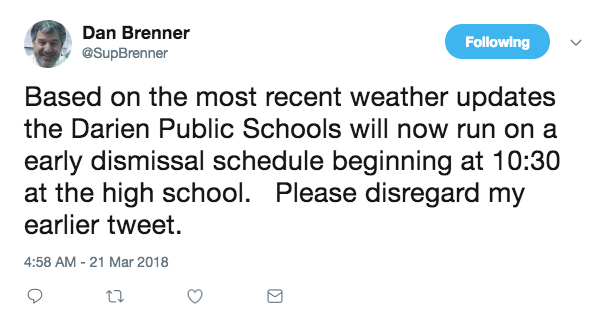 Brenner second tweet schools in 3-21-18