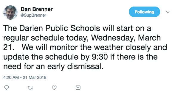 There's school today 03-21-18