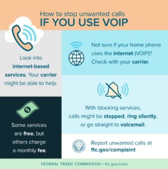 VIOP Stopping Unwanted Phone Calls FTC