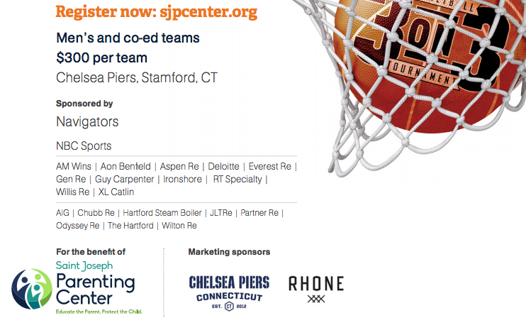 Lower poster for St Joseph Center 3 on 3 hoops 2018