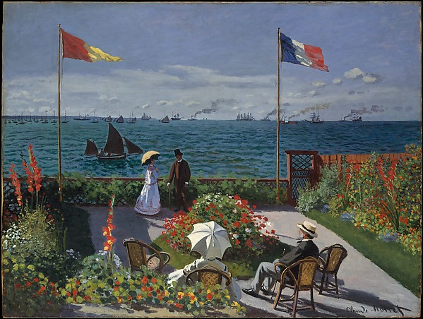 Monet Garden at Sainte Adresse 1867