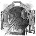 Pneumatic subway NYC https://commons.wikimedia.org/wiki/File:Beach_Pneumatic_Transit_01.jpg
