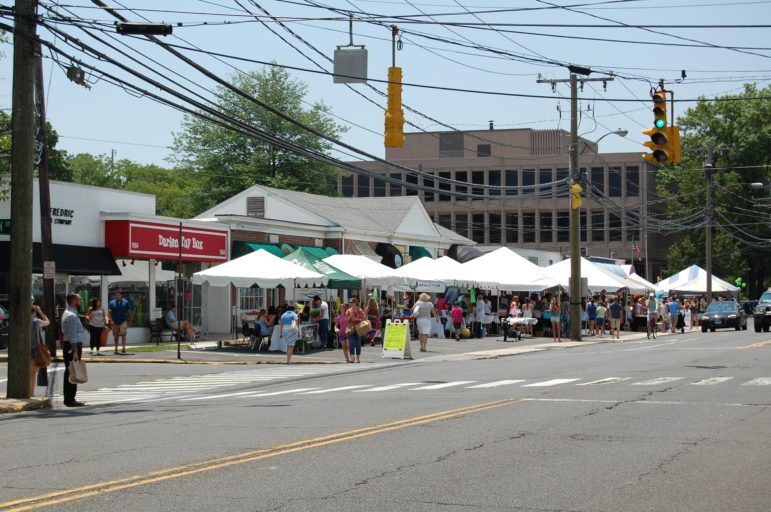 Darien Sidewalk Sales and Family Fiun Days 2018 tents