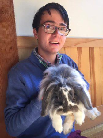 Einstein bunny Peter Lyon Darien Nature Center sponsor an animal