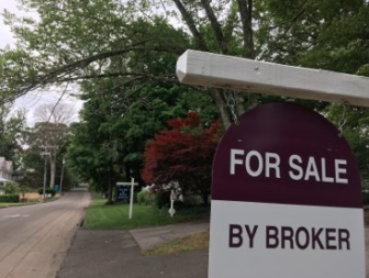 For Sale by Broker sign real estate New Canaan