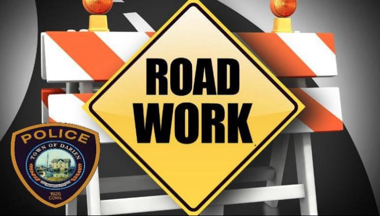 Darien cops issued image Road Work