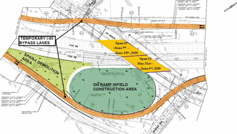 Map Exit 9 bridge replacement