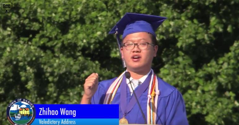 Valedictorian DHS Graduation 2018 Zhihao Alex Wang
