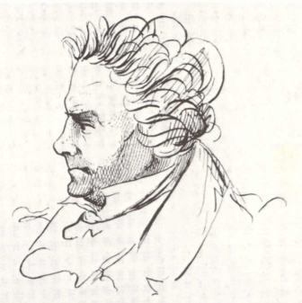 Beethoven 1825 caricature JP Lyser