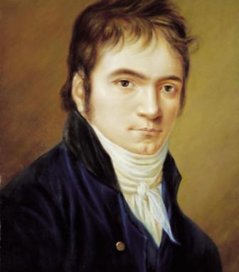 Ludwig van Beethoven portrait by Hornemann