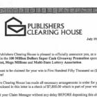 Police: Beware the 'Publishers Clearing House' Scam — They