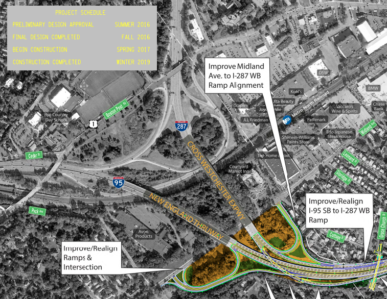 New York State Thruway Authority ramp highway project map Last Mile 2018