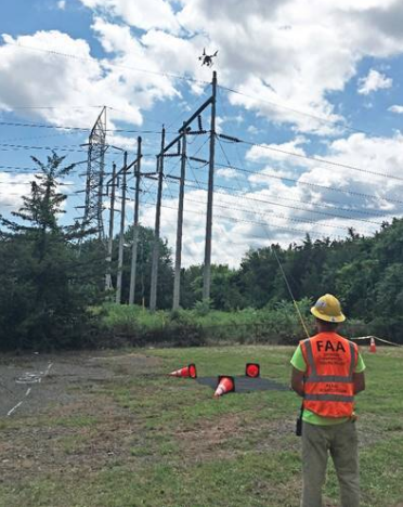 Drone inspections of power lines Eversource 2018