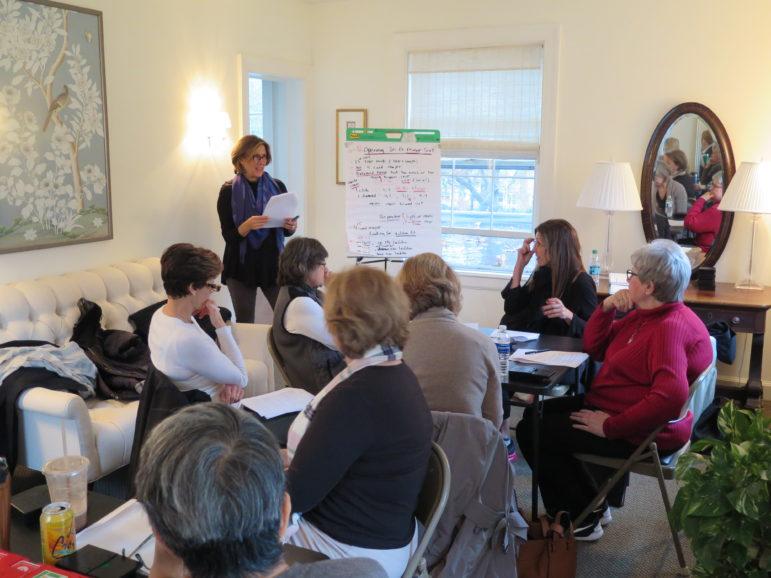 Meredith Dunne teaching bridge class at DCA