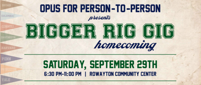 BigGER Rig Gig 2018 OPUS for Person-to-Person fundraiser