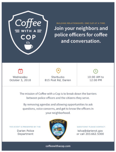 Poster Coffee With a Cop for Oct 3, 2018