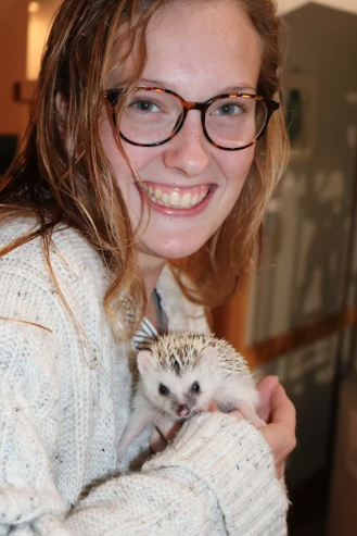 Hedgehog named at Darien Nature Center Gaby Highton