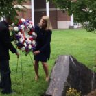 Leone Stevenson wreath 9/11 ceremony