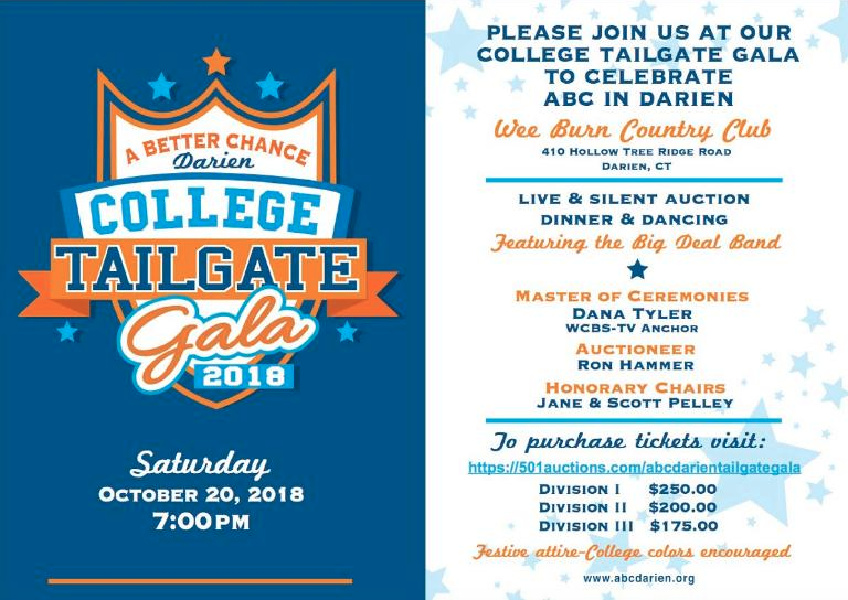 ABC in Darien tailgate gala 2018