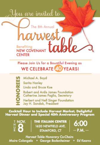 New Covenant Center's Harvest Table event image 2018