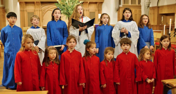 Kids in choir St Luke's Parish 2018